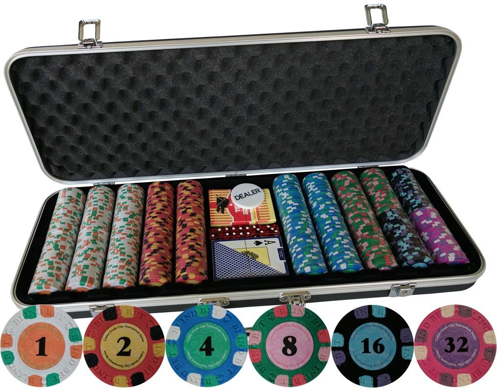 blind bet poker chips 500 ct tournament set