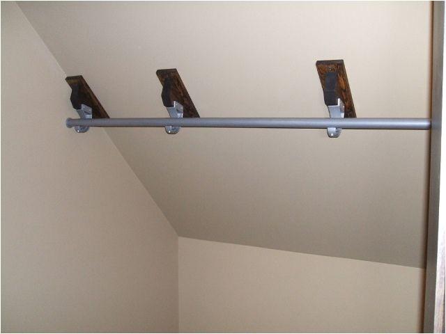 tremendous closet rod bracket for sloped ceiling