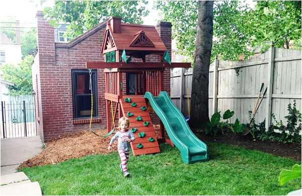 small yard swing set solution