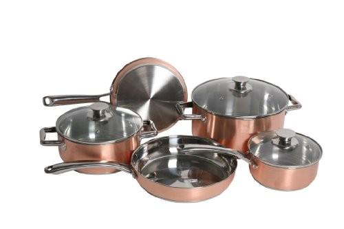 discount cookware sets gourmet chef copper pro 8 piece cookware set