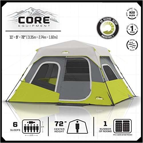 core 6 person tent