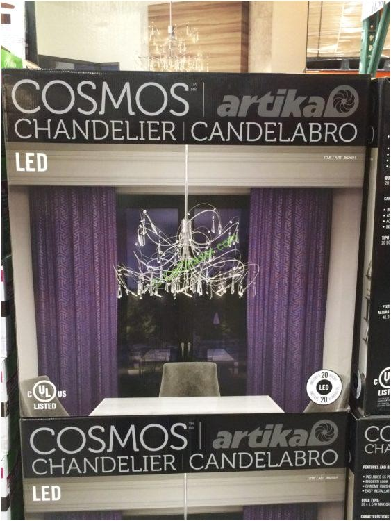 costco 862694 cosmos led chandelier by artika box