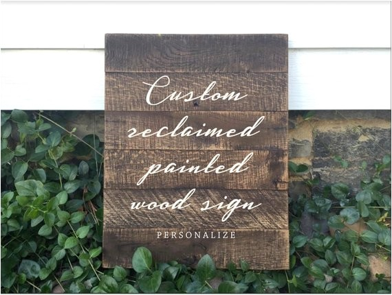 custom wood sign custom pallet sign