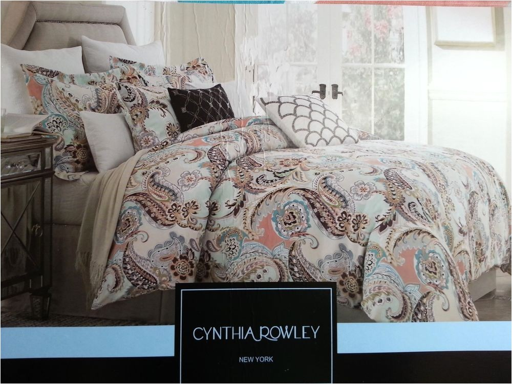 paisley king comforter sets size duvet covers blue luxury satin bedding 6