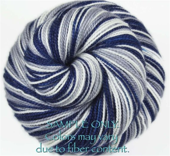 dyed to order cowboys self striping sock