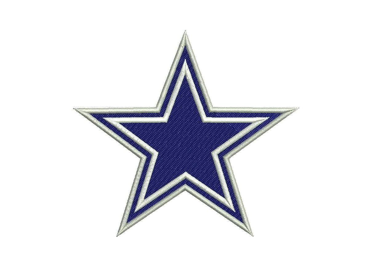 2 types of dallas cowboys embroidery