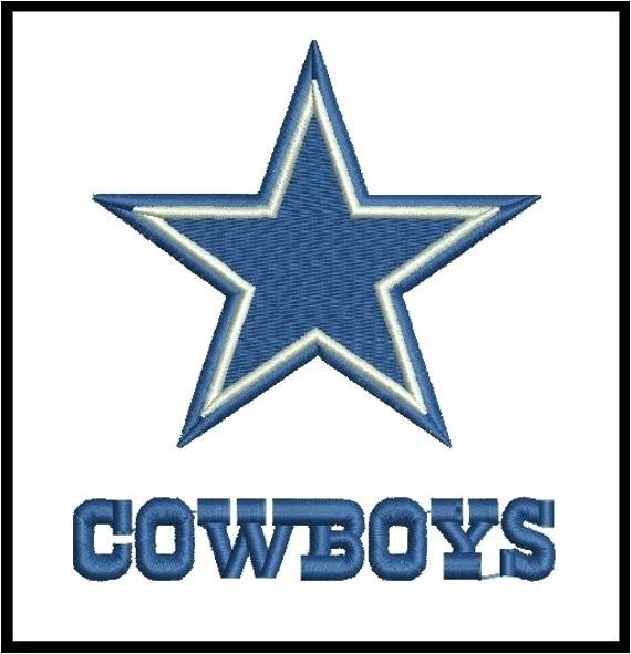 dallas cowboys embroidery design 4 sizes