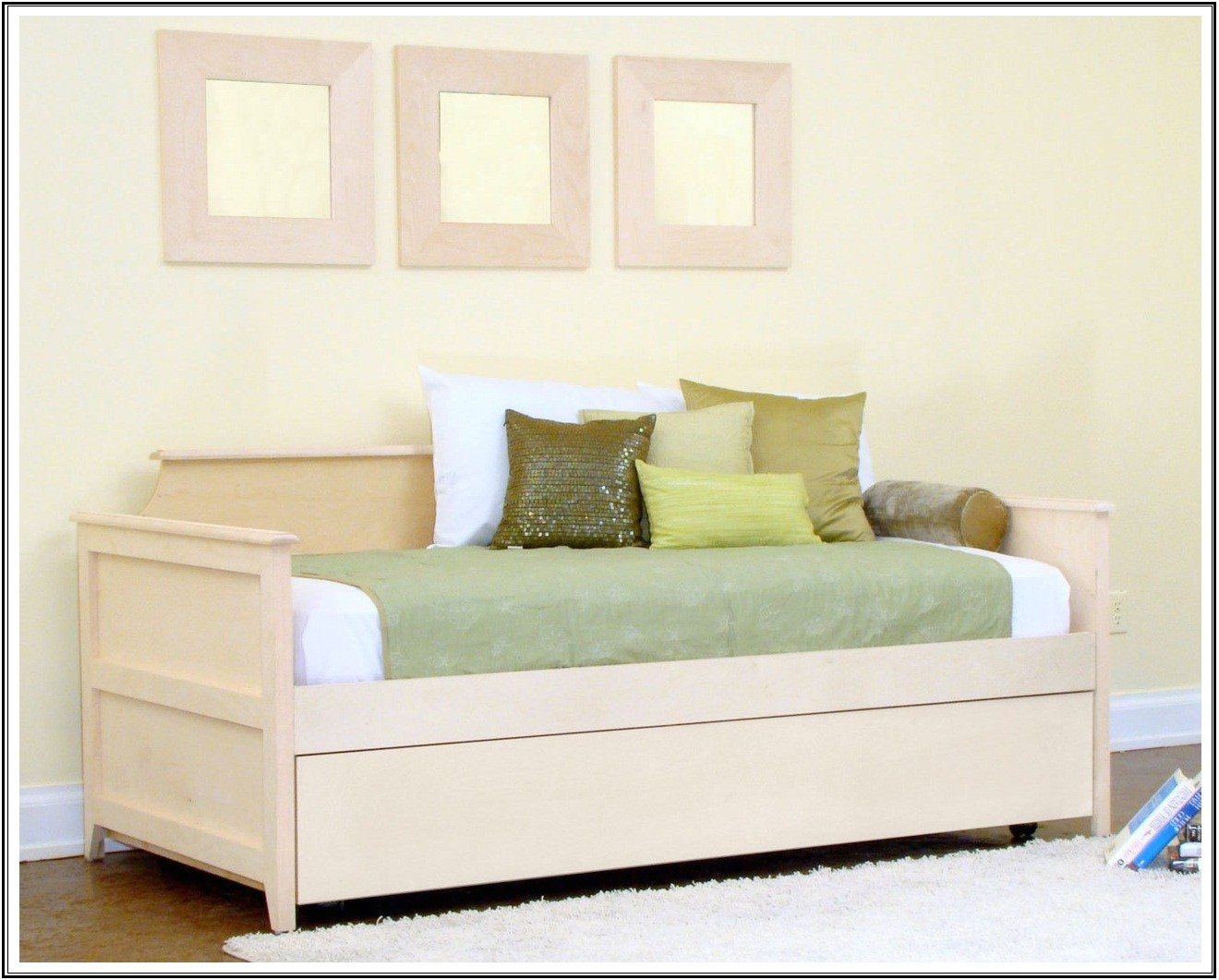 daybed with pop up trundle white