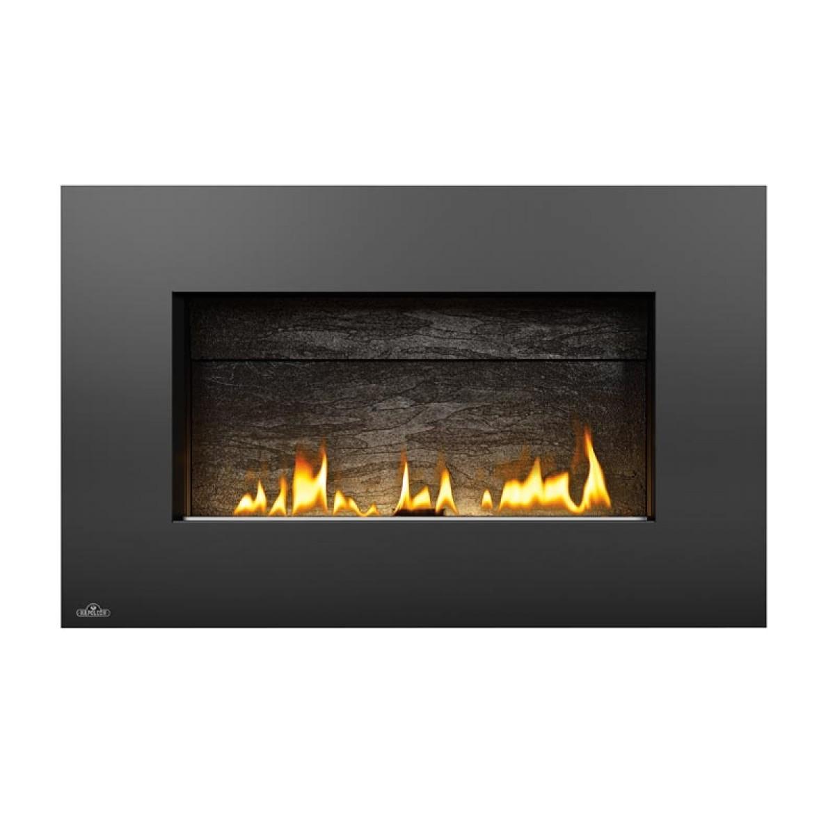 napoleon whvf31 plazmafire vent free gas fireplace w slate brick panel