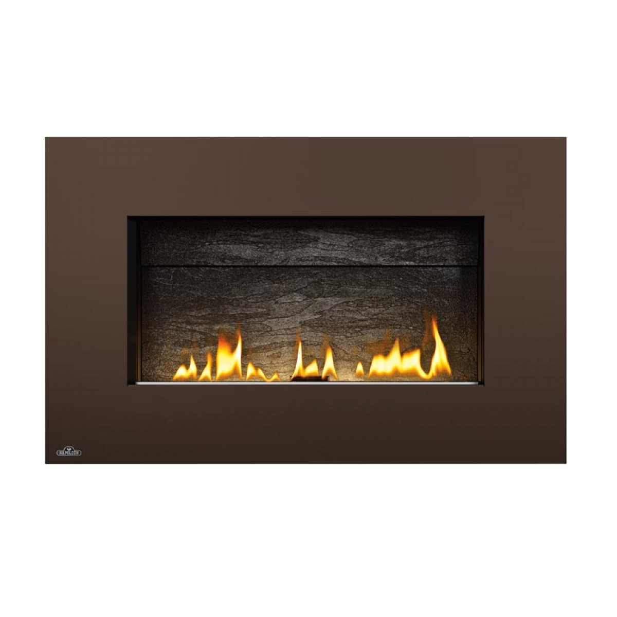 napoleon whvf31n plazmafire vent free natural gas fireplace w slate brick panel