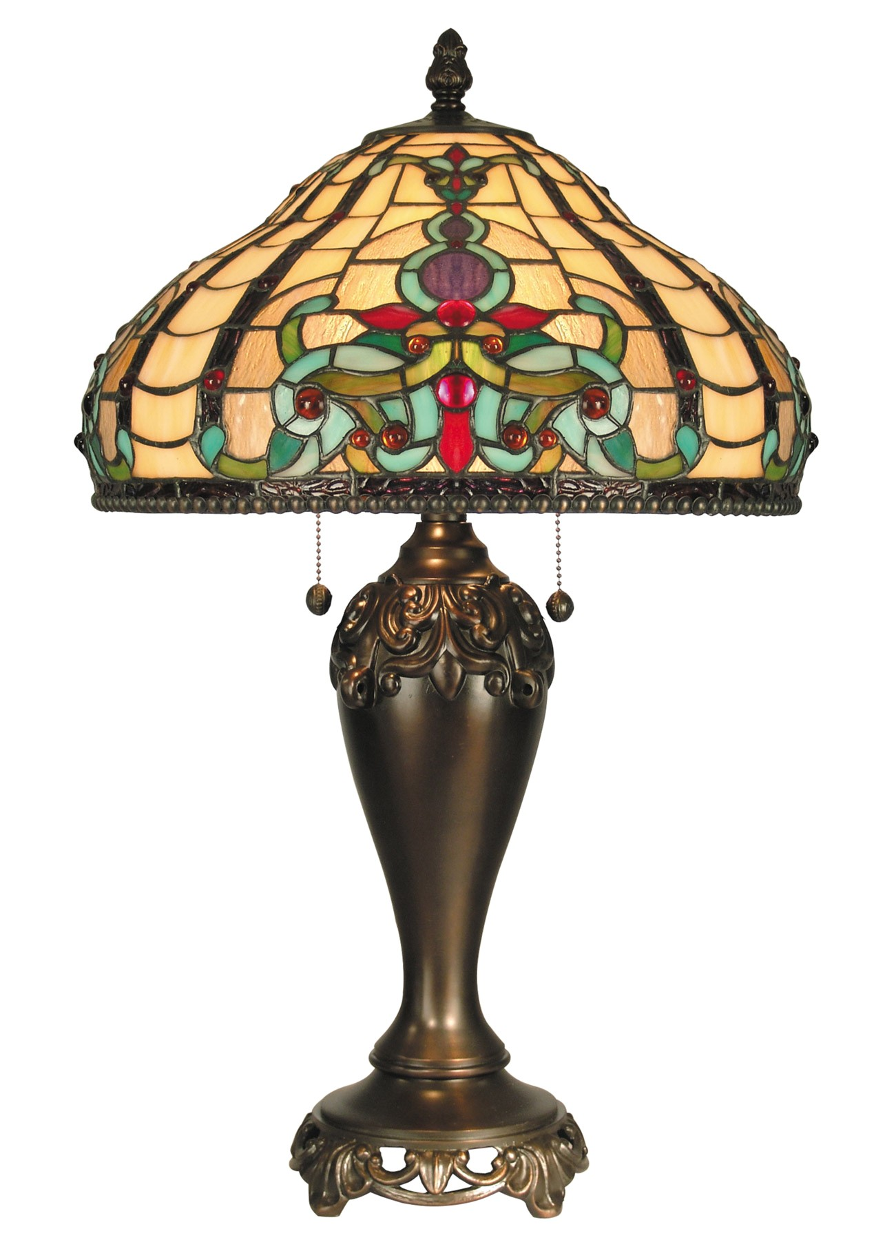 Discontinued Dale Tiffany Lamps Dale Tiffany Tt60203 Tiffany topaz Boroque Table Lamp