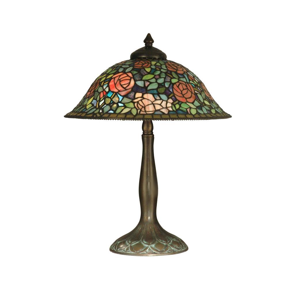 dale tiffany tt10351 tiffany rose garden table lamp