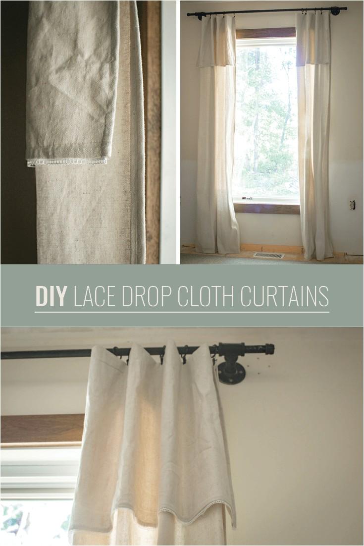 diy drop cloth curtains with a twist