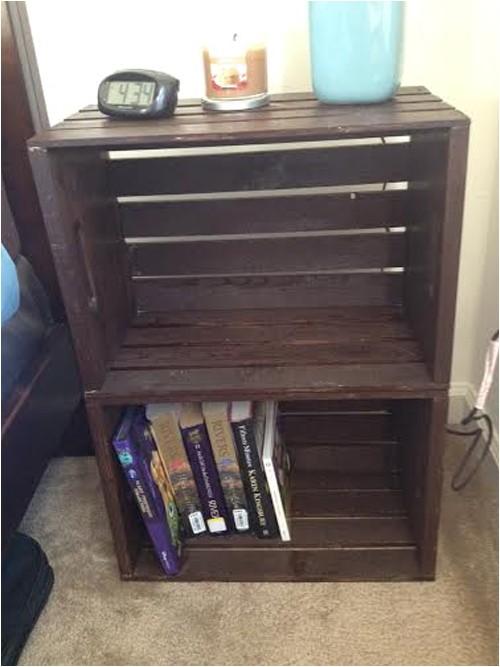 diy crate nightstand