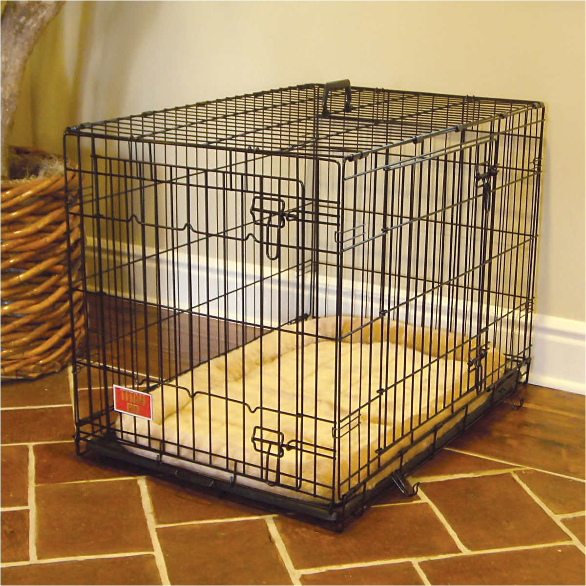 amusing dog crate with divider
