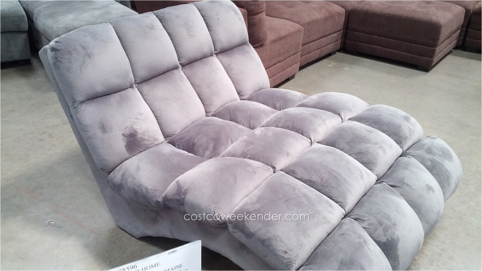 emerald home boylston double chaise lounge costco 905596