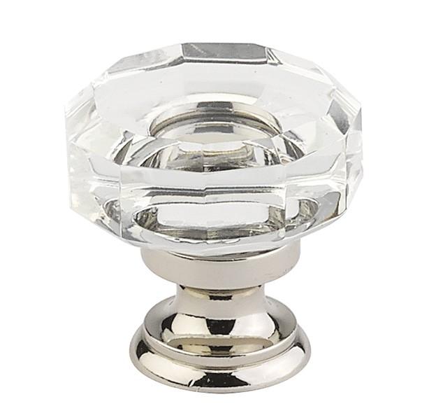 emtek lowell crystal cabinet knob 1 38 p 1636