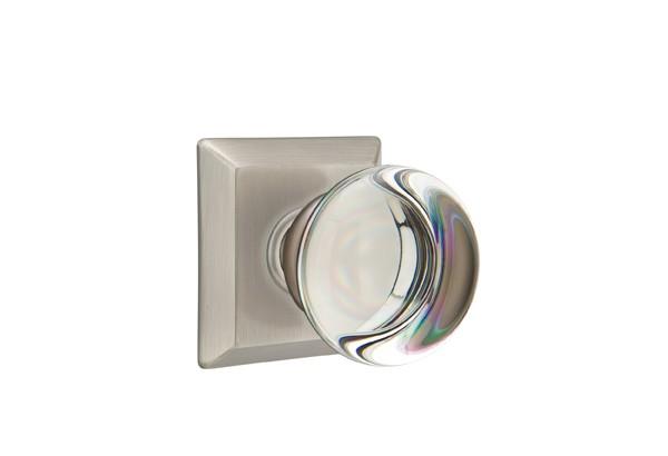 emtek providence crystal double dummy door knob quincy rosette pewter ek 8531pcus15a
