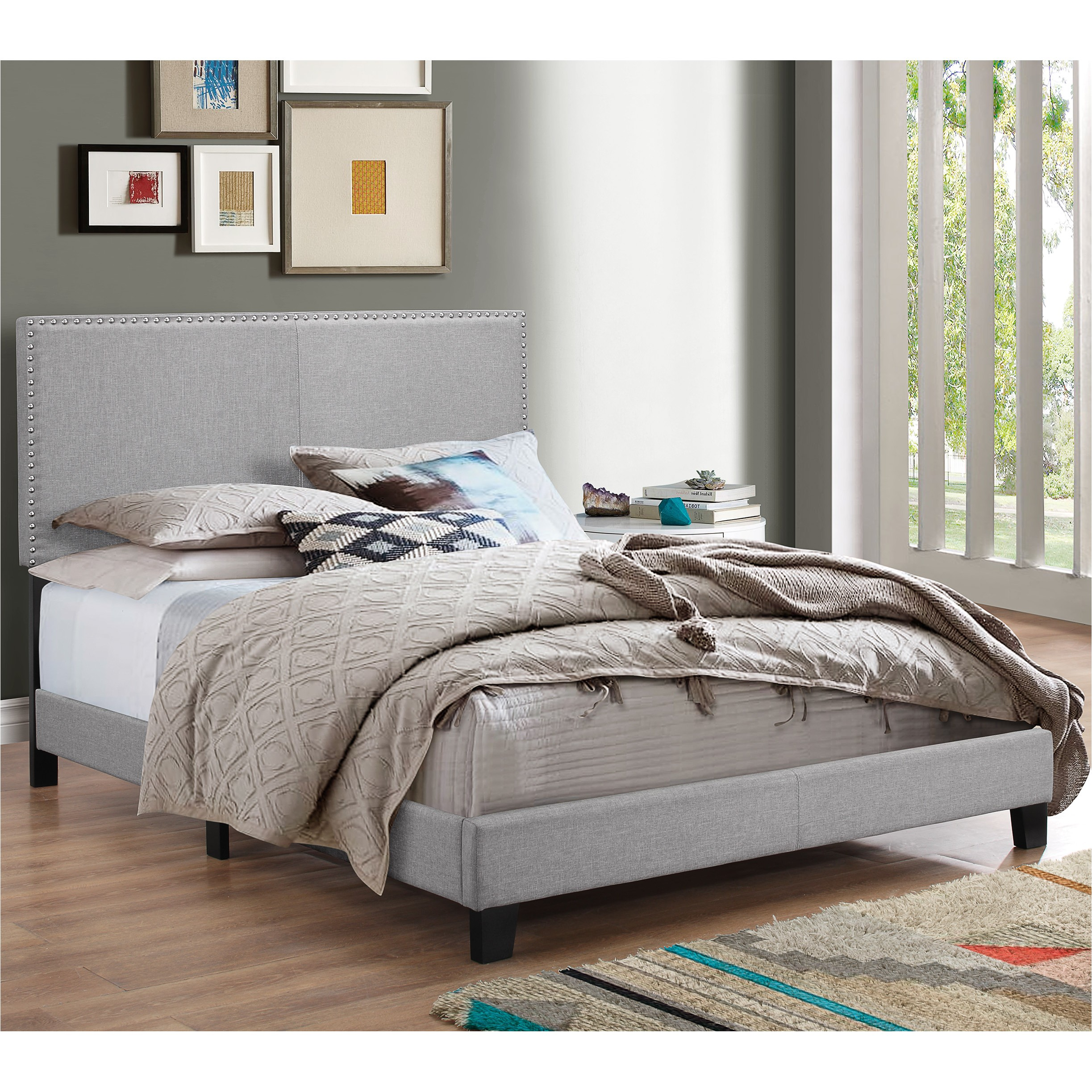 crown mark erin upholstered panel bed lmdw1087