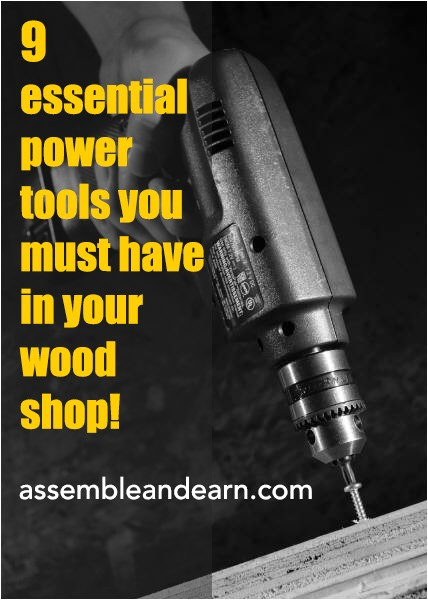 essential power tools for a woodshop