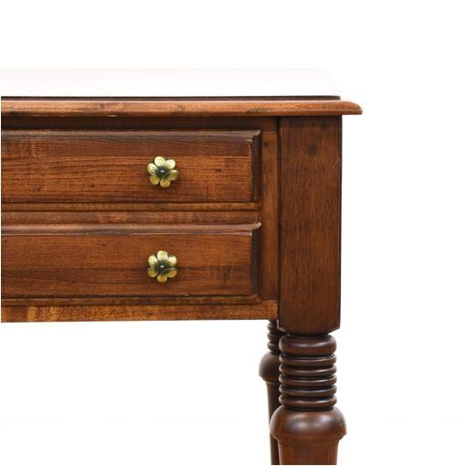 pair of ethan allen cherry tiered nightstands