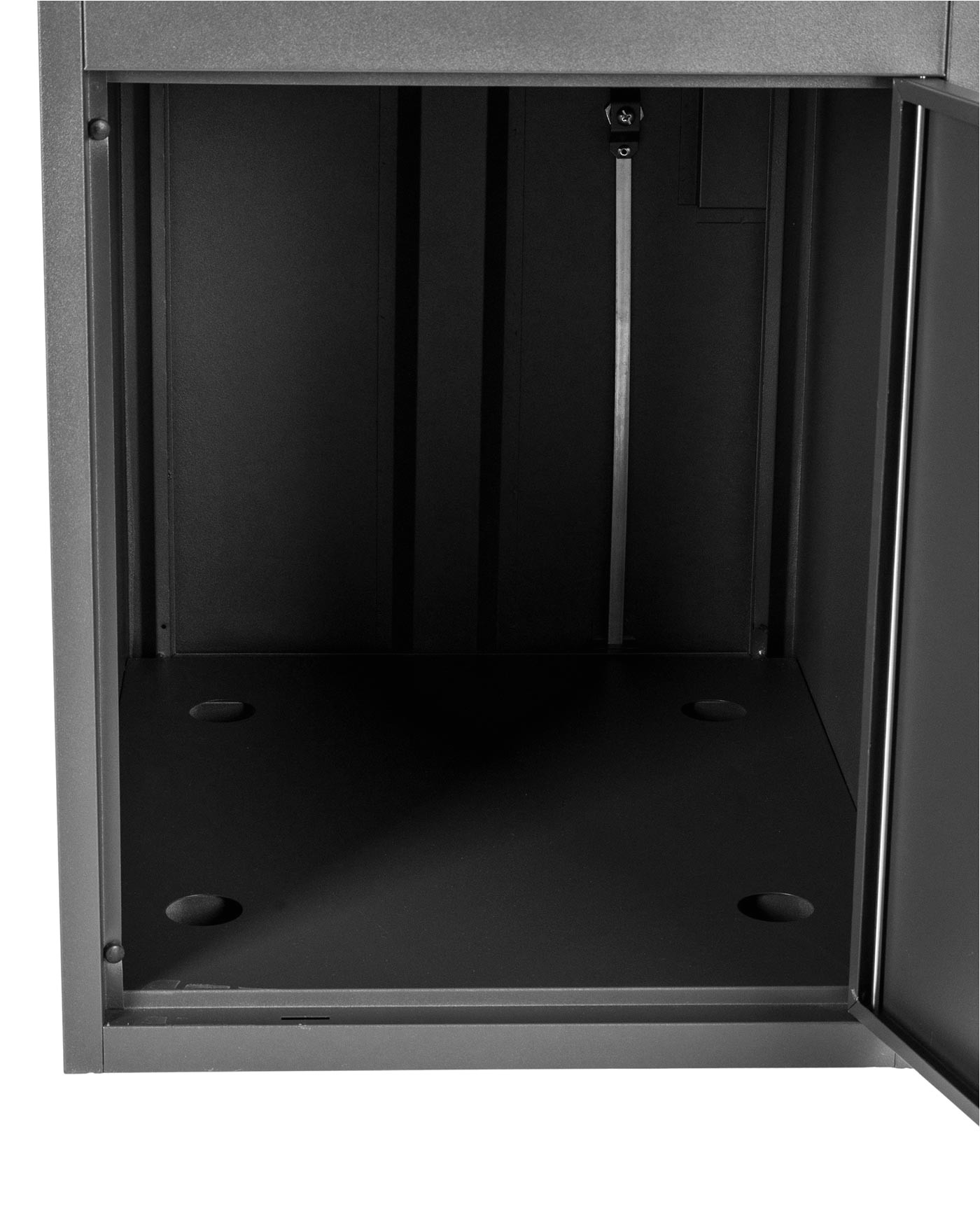 extra large smart parcel delivery drop box with double door access grey