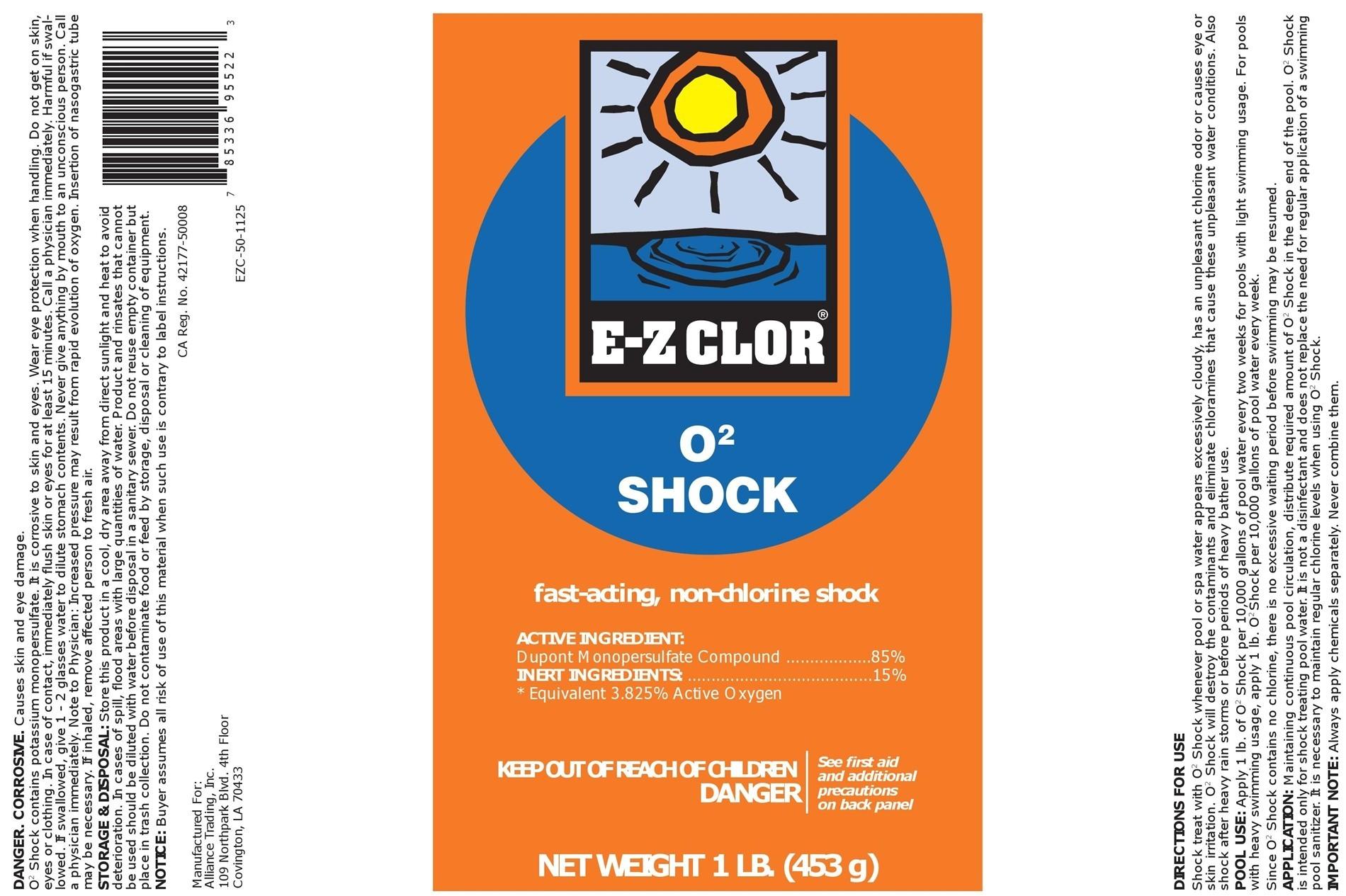 e z clor o2 non chlorine shock 1lb