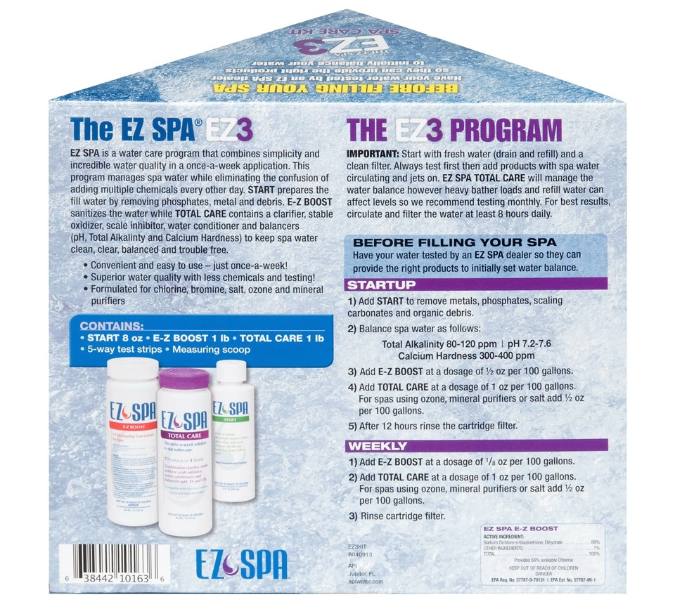 ez spa total care small kit