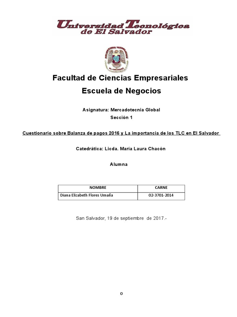 Floristerias Economicas En San Salvador Balanza De Pagos 2016 Y La Importancia De Los Tlc En El Salvador