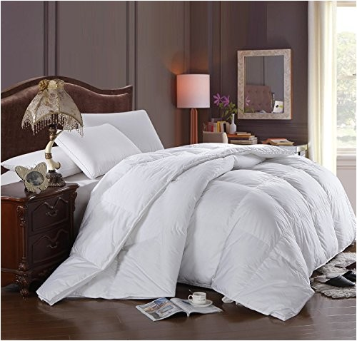 super oversized soft and fluffy goose down alternative comforter fits pillow top beds king 110 x 98 high quality 100 percent cotton shell medium warmth by royal hotel