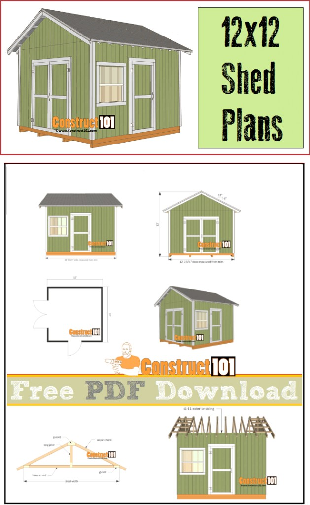 12x12 shed plans gable shed pdf download