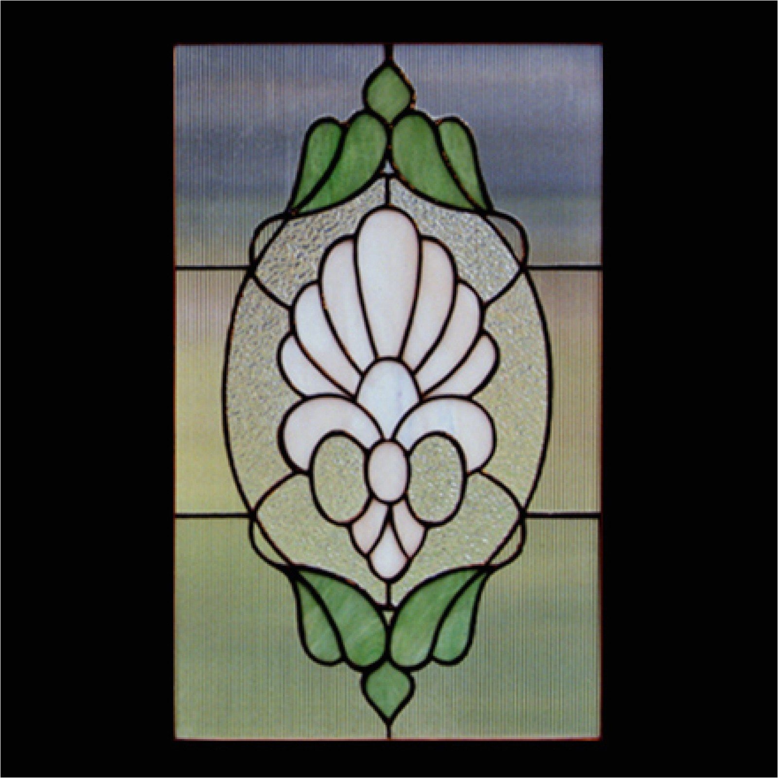 victorian cupboard stained glass pattern