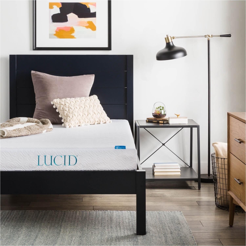 full size mattress set under 200 lucid 6 inch memory foam mattress