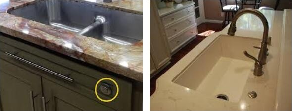 garbage disposal air switch under sink