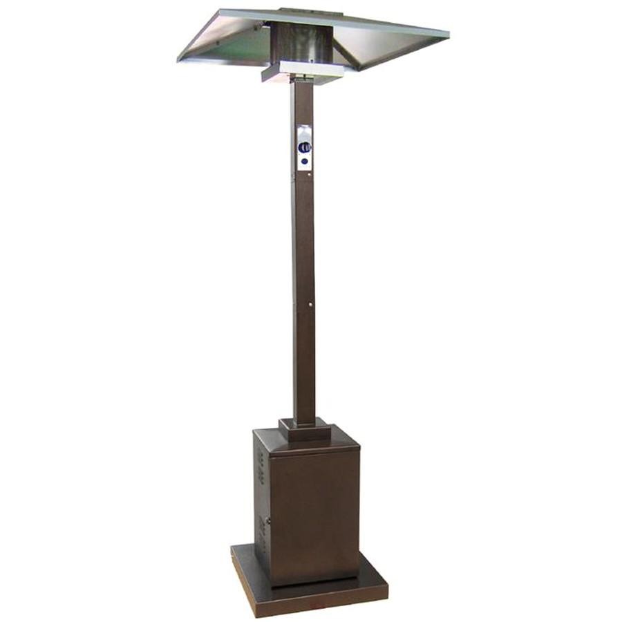 Garden Treasures Living Outdoor Patio Heater Replacement Parts Shop Garden Treasures 38 000 Btu Hammered Bronze Steel
