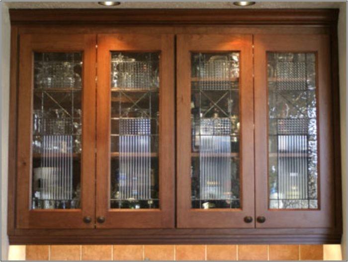 diy glass cabinet door inserts