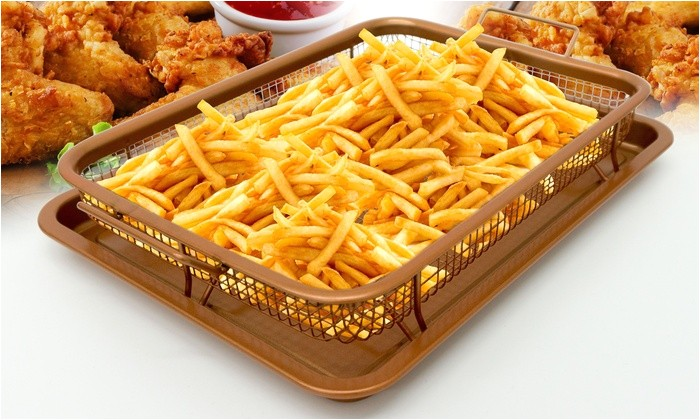 gg gotham steel crisper tray xl with nonstick copper surface as seen on tv