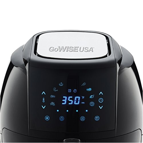 gowise usa 5 8 qt programmable 8 in 1 air fryer xl 50 recipes for your air fryer book black sale