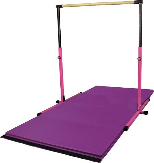 combo gym pack adj pink horizontal bar with 8 purple mat gm041d athletics gymnastics e
