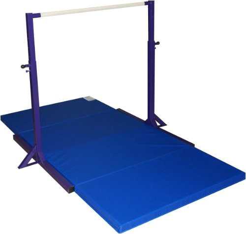 2973650 gymnastics mini high bar and 2 thick folding mat without extension legs