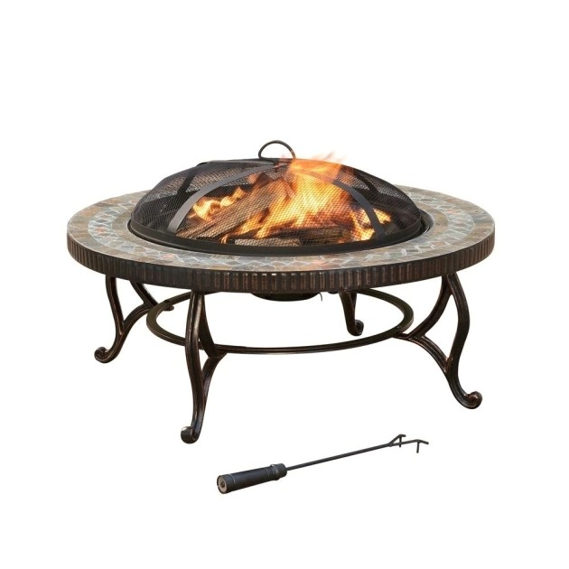 fantastic hampton bay tipton 34 in steel deep bowl fire pit in oil rubbed replacement fire pit bowl home depot