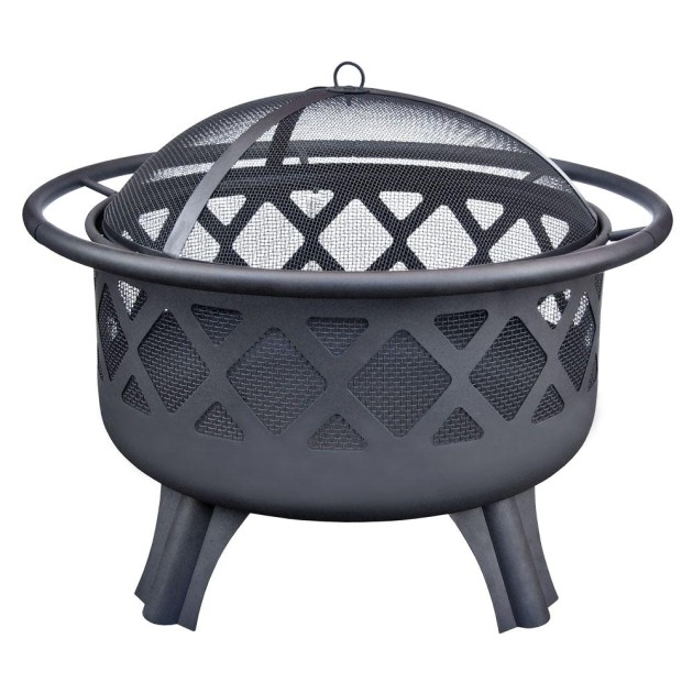 fascinating hampton bay crossfire 2950 in steel fire pit with cooking grate replacement fire pit bowl home depot