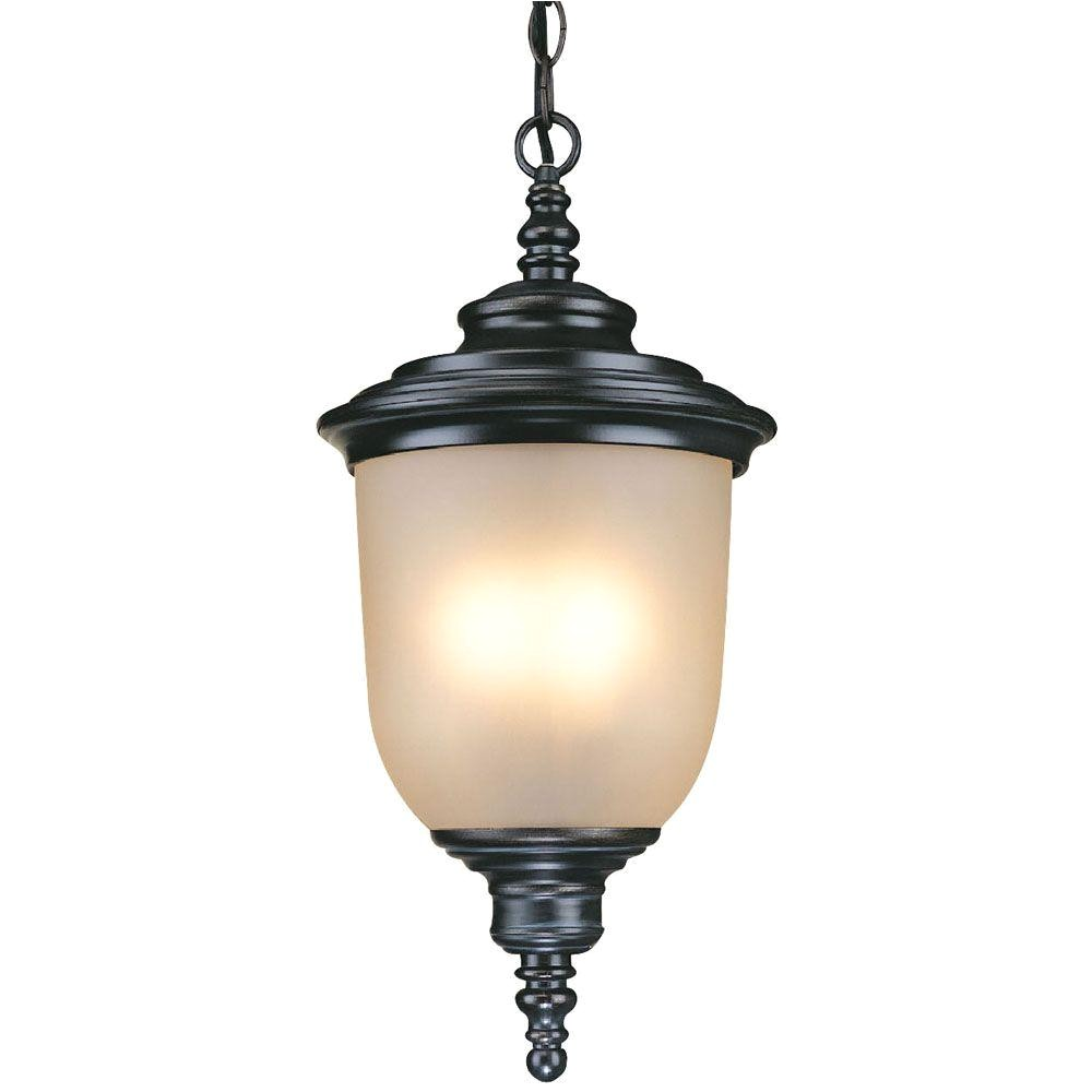 Hampton Bay Lighting Catalog Hampton Bay Chelsea 3 Light Mediterranean Bronze Outdoor