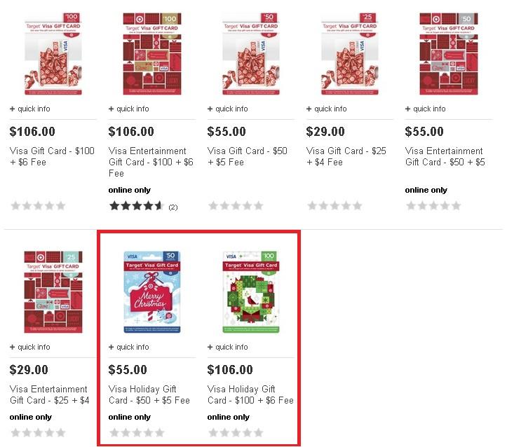 target visa gift card balance