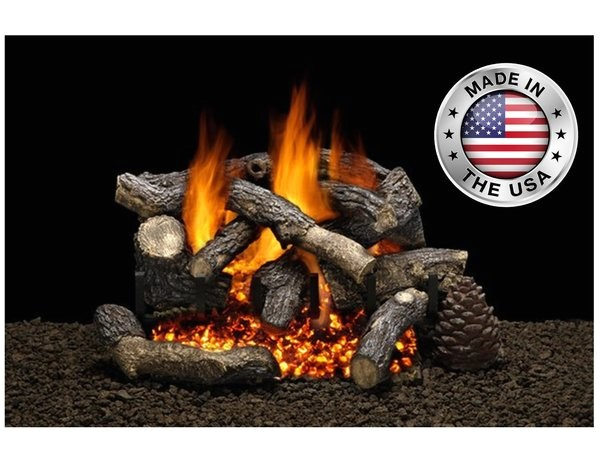 rugged timber gas logs by heatmaster