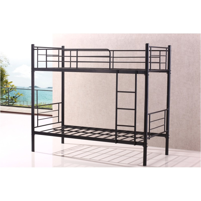 290 stylish single sturdy black metal bunk bed frame heavy duty