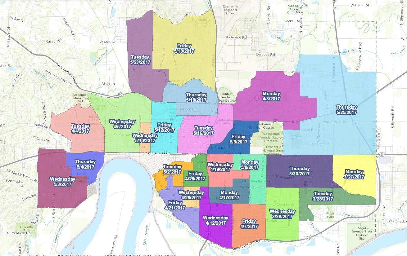 Heavy Trash Pickup Evansville 2019 Map Heavy Trash Day Set to Begin Next Week In Vanderburgh Co