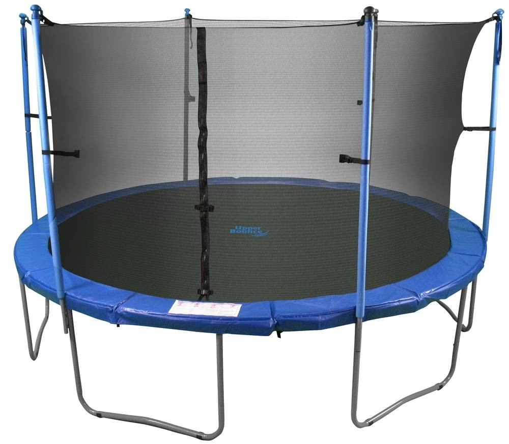 upper bounce 12 ft trampoline and enclosure set equipped with the new easy assemble feature