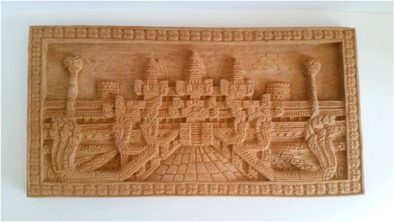 vintage carved wood india temple wall