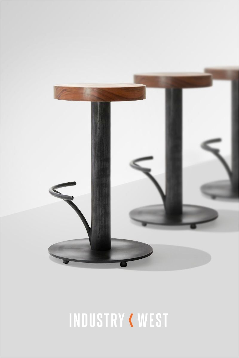 Industry West Slab Bar Stool An Exclusive Design for Industry West Slab Bar Stool is